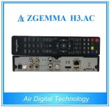 Multi-Media Spieler-Kasten Zgemma H3. Tuners Wechselstrom-Satellitenempfänger-Linux OS-Enigma2 DVB-S2+ATSC