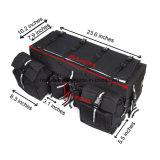 Zak van het Toestel van het Rek van de Zak van de Lading ATV de Achter die van 600d Waterdichte Stof met Tie-Down van Bungee van de Bovenkant Opslag op:vullen-Onderste Zwarte Esg10218 wordt gemaakt Met verschillende compartimenten