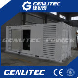 20 do '' gerador Soundproof do diesel recipiente 600kw 750kVA Cummins