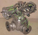 La válvula de desvío (transporte neumático)