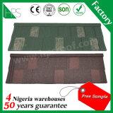 Matériau de construction enduits de pierres colorées tuile plate de mode le matériau de couverture