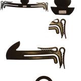 カスタム小型黒く安いプラスチック下着のハンガー