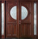 Porta de madeira de vidro místico da entrada principal de 6 Lites (GSP1-040)