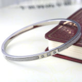 L'Europe plaqué or Bijoux de mode Scrub Bangle Bracelet en acier inoxydable