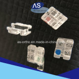 Corchetes de cerámica del zafiro ortodóntico dental 0.022 345hooks