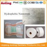 Matéria- prima não tecida Hydrophobic do rolo da tela de SMMS para o tecido do bebê
