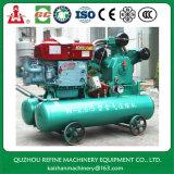 Kaishan fiable 20HP 5bar piston mobile air du compresseur pour l'exploitation minière Utilisez W-2.6/5