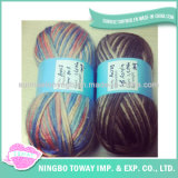 Tecelagem de fantasia respirável lã artesanais lado tricotar