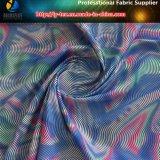 Motif d'impression abstraite sur tissu tissé en tafet en polyester