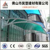 Het hete Afbaarden van het Polycarbonaat van de Verkoop voor Deuren en het Vensters Gekleurde DIY Zonnescherm van PC Awing
