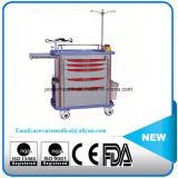 Carro da emergência do ABS do equipamento do hospital da alta qualidade