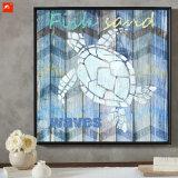 Decoração de madeira da parede da tartaruga moderna dos animais selvagens da arte da parede