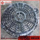 延性がある鉄の円形の溝の火格子En124 D400