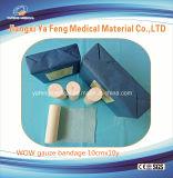 Fasciatura medica della garza del cotone per uso a gettare