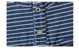 Maglietta a strisce blu e bianca di modo del cotone dei ragazzi dei vestiti per estate
