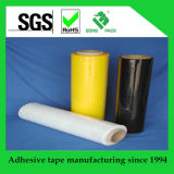 Película protetora da embalagem do estiramento preto e branco com amostras livres