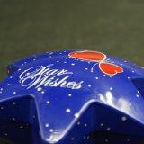 En forma de estrella de regalo caja de la lata de chocolate / caramelo / Navidad / artesanía (HS001-V1)