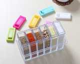 부엌은 6PCS Transparet 플라스틱 조미료 상자 상자를 공급한다