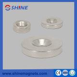 Nickel-überzogener Neodym-Ring geformter angesenkter Magnet