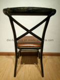 Античный Stackable классический стул металла задней части креста
