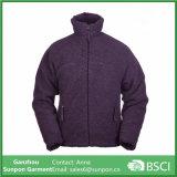 人のコートの倍の側面の反Pillingジャケットの羊毛のジャケット