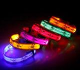 2017년 USB 재충전용 번쩍이는 밤 안전 LED 개 목걸이