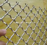ひだを付けられた金網か編まれた金網