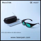 Alta segurança de óculos de proteção da proteção dos vidros de segurança do laser de 635nm 808nm para os lasers vermelhos, lasers do diodo com frame 33