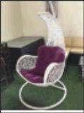 옥외 바구니 등나무 그네 팔걸이 2를 가진 거는 의자 발코니 의자