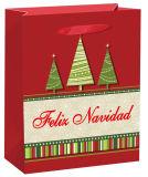 Weiße Farben-heißer stempelnder Papierbeutel-Weihnachtsgeschenk-Beutel