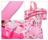 Geometrische Abbildung Kind-Rollen weitermachen Gepäck-Schule-Rucksack-Laufkatze-Beutel