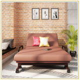 Convenient and Salable Steel Frame Folding Bed (190*100cm Brown)