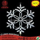 Снежинки белизны 40cm силуэта IP65 СИД свет рождества веревочки напольной привесной