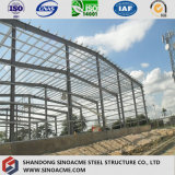 Magazzino prefabbricato lungo di industria dell'acciaio per costruzioni edili dell'indicatore luminoso della portata
