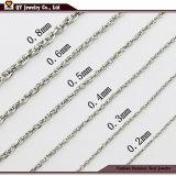 Collar de la moda de las cadenas de la cuerda Wholesales Joyas de acero inoxidable 316L
