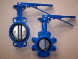 Válvula de borboleta do ferro de molde do assento de EPDM ou do aço de molde