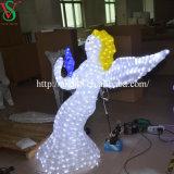 Anjo da luz do motivo da decoração do feriado