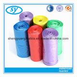 Bolso de basura plástico disponible de encargo del LDPE del HDPE en el rodillo