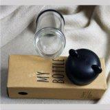 Fles van het Water van het Glas van de Lagen van het Deksel van de panda de Dubbele