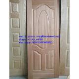 Porte de bois de placage de la peau naturelle