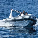 Bateau gonflable rigide de bateau de luxe de côte de Liya 19ft avec le moteur