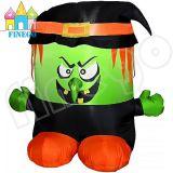 Aufblasbarer grüner Geist mit schwarzer Unterseite für Halloween-Dekoration