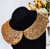 Handmade Gargantilla Chunky Flash coreano falso Collar Collar Collar de perlas Collar chapado en oro (Pnc-001).
