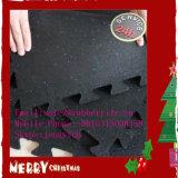 Il garage di gomma resistente di ginnastica poco costosa mette in mostra la stuoia del pavimento