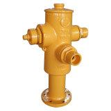 Gietijzer of de Kneedbare Hydrant van het Ijzer met de Einden van de Flens