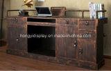 Compteur de caisse classique en bois, table de caisse
