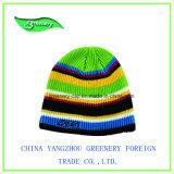 Chapéu Multicolor bonito do Knit do inverno do bordado da forma