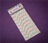 Bolsa de papel del portador del regalo de la promoción de las compras de la bolsa de papel de Kraft de los compradores del cordón de la Navidad