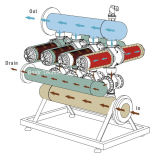 """"""" type système rinçant à partir de l'orifice de vidange automatique de H 3 de filtre d'irrigation de disque"""