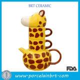 Novo produto Creative Giraffe Combined Teapot Cup